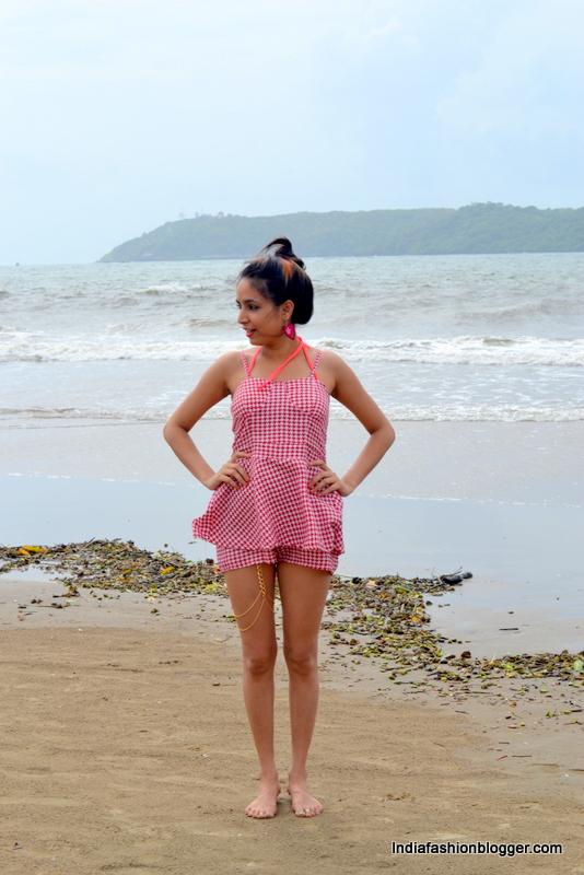 india fashion blogger at goa