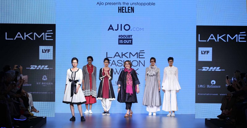 Actress Helen walks for Doubtisout at LFW SR 2016