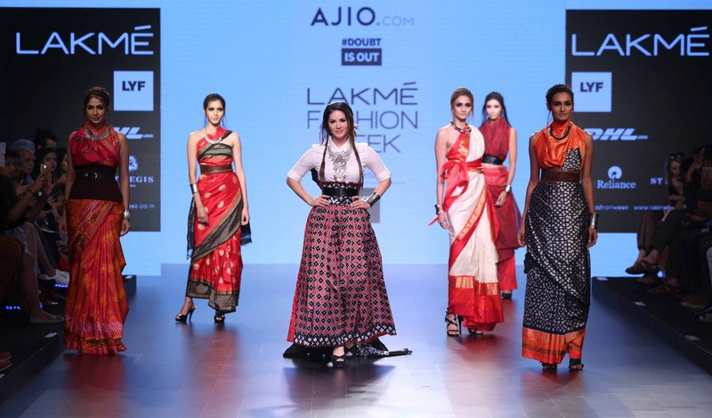 Actress Sunny Leone walks for Doubtisout at LFW SR 2016